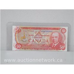 Bank of Canada $50.00 Note Lawson/Bouey 1975