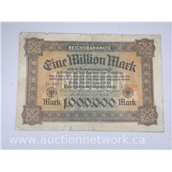 Reichsbanknote 1,000,000 Mark Note