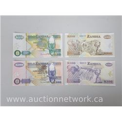 Bank of Zambia 4pc Note Set