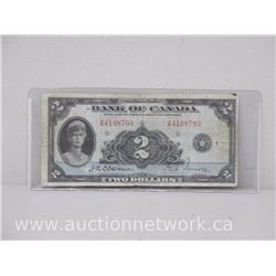 Bank of Canada $2.00 Osbourne/Towers RARE VG 1935 Note