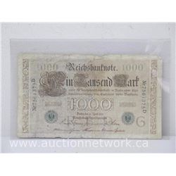 Reichsbanknote (1000) Mark Note