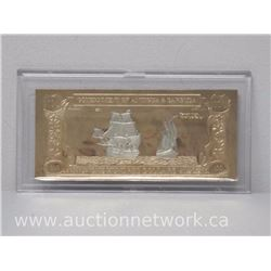 Antigua and Barbuda 23kt Gold Banknote