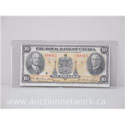The Royal Bank of Canada Ten Dollars $10 (Jan.2nd,1935)
