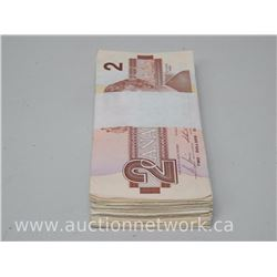Bundle Lot of (100) 1986 Bank of Canada $2 Notes