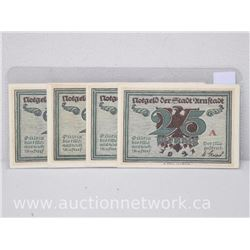 Lot of (4) Notgeld Paper Money