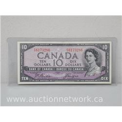 Bank of Canada DEVIL'S FACE $10.00 Ten Dollars (F|D) 1954 Note