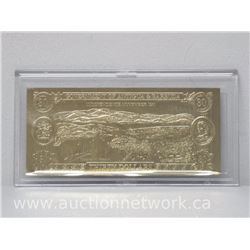 Antigua and Barbuda 23kt Gold Bank Note