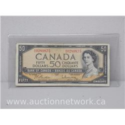 Bank of Canada $50.00 Fifty Dollars Note (B|H) 1954 Beattie/Rasminsky