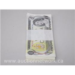 Bundle Lot of (100) 1973 Bank of Canada $1 Notes