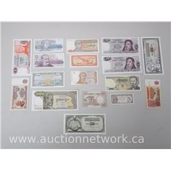 16pc World Paper Money Lot