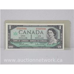 Bank of Canada $1.00 One Dollar 1967 Beattie Rasminsky F/P