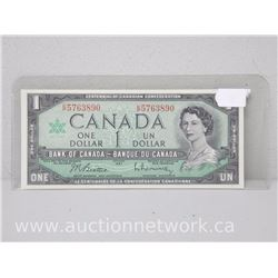 Bank of Canada $1.00 One Dollar Note (KP) 1967 Beattie/Rasminsky
