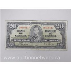 Bank of Canada 1937 $20.00 Note Coyne/Towers (J|E)