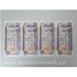 Lot of (5) EF+/AU Bank of Canada $10.00 Ten Dollars 1971 Lawson/Bouey