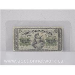 Dominion of Canada 1870 Twenty-Five Cent Note 25c