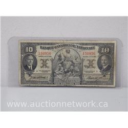 Banque Canadienne Nationale (Montreal Jan 2 1935) Dix Dollars $10.00