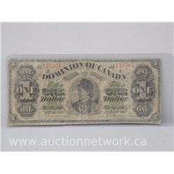 The Dominion of Canada One Dollar VG-F 1878 Note
