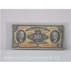 The Dominion Bank Ten Dollars $10 (Jan 1935) Note