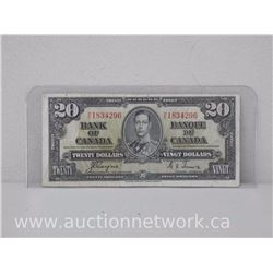 The Bank of Canada $20.00 Twenty Dollars Coyne/Towers H/E 1937 Note