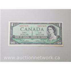 Bank of Canada 1945 (Beattie/Rasminsky) L/O $1.00 One Dollar Note