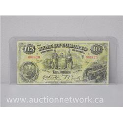 The Bank of Toronto Ten Dollars $10.00 (006420) 1935 Note