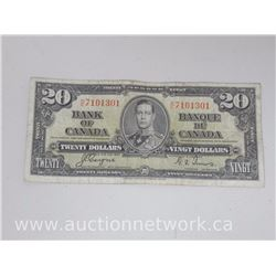 The Bank of Canada $20.00 Twenty Dollars H/E Coyne/Towers 1937 Note
