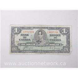Bank of Canada $1.00 C/N Coyne/Towers 1937 Note