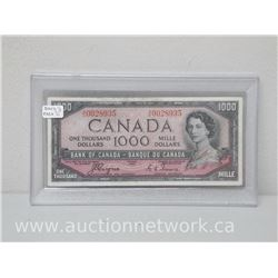 *RARE* $1000.00 One Thousand Dollars Bank of Canada DEVIL'S FACE 1954 Note A/K 0028935
