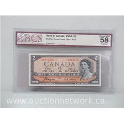 Bank of Canada 1954 $2.00 (BC-30a, Coyne-Towers, Devil's Face) Note *BCS ALMOST UNC 58*