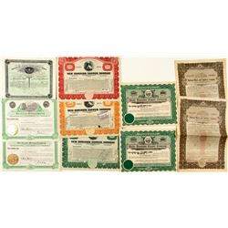 Gila & Graham County Mining Stock Certificates (10)