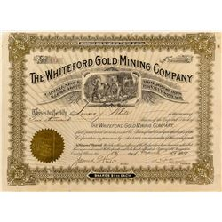 The Whiteford Gold Mining Company Stock Certificate