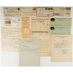 Arizona Mining Letters and Ephemera