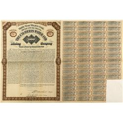 The Calaveras Water & Mining Company $1,000 Bond