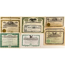 Sierra County Mining Stock Certificate Group