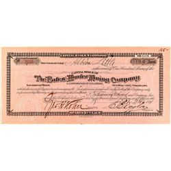 The Bates-Hunter Mining Company Stock Certificate