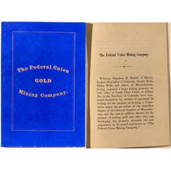 By-Laws of The Federal Union Gold Mining Company