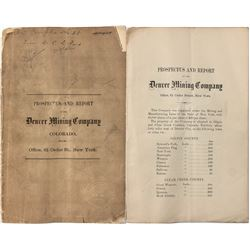 Prospectus and Report of Denver Mining Company