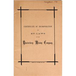 Dunderberg Mining Company Certificate of Incorporation & By-laws