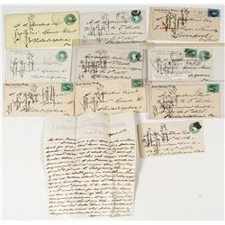 Nine Leadville Mining Letters with Correspondence