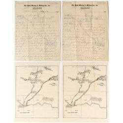 Ruth Mining & Milling Company Letterhead with location map on back