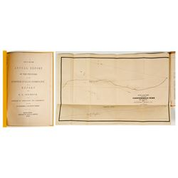 2nd Annual Report of The Copper Falls Mining Co. (E.L. Seymour) w/ folding map