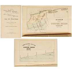 Report & By-Laws of The Copper Falls Mining Co. (by Samuel W. Hill) w/ Hill Autograph & Map