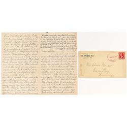 1893 Candelaria, Nevada Mining Letter w/ Corner Advertising Cover from Newspaper