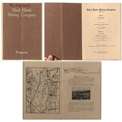 """The Original """"Black Hawk Mining Company"""" Prospectus (Lincoln County, Nevada)"""