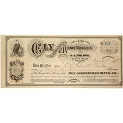 Ely Consolidated Mining Company Stock Certificate