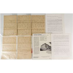 1907 Ten Page Goldfield, Nevada Letter with Great Content
