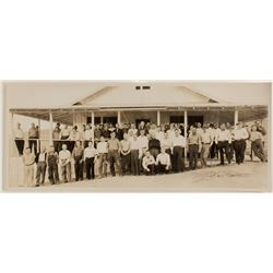Mill City, Nevada Mining Crew Panorama