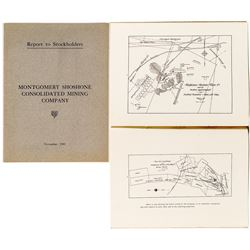 Montgomery Shoshone Consolidated Mining Company Report to Stockholders (Rhyolite, Nevada)