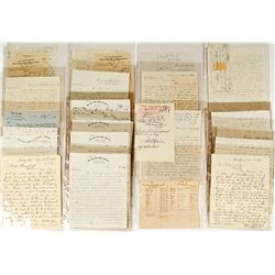 Rare Volume of Letters for the Twin River Mining Company (Twin River, Nevada)