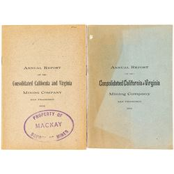Two Annual Reports for the Consolidated California & Virginia Mining Company (Virginia City, Nevada)